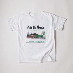 Cafe du Monde White Youth Gildan Tee Shirt