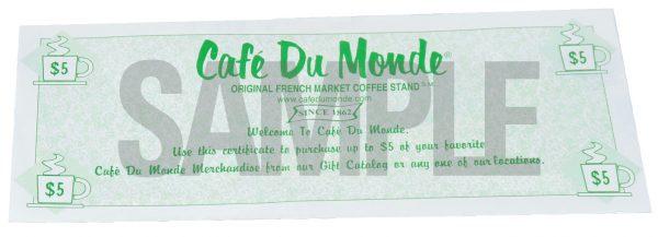 Café Du Monde Gift Certificates
