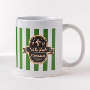 Cafe du Monde Green Stripe Mug