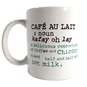 Cafe du Monde Café Au Lait Definition Mug