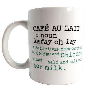 Cafe du Monde Café Au Lait Definition Mug