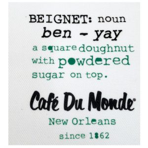 Cafe du Monde Beignet Definition Towel