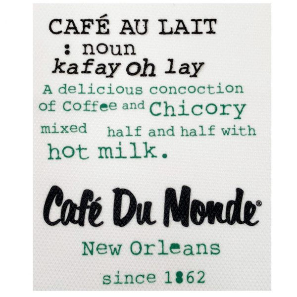 Cafe du Monde Café Au Lait Definition Towel