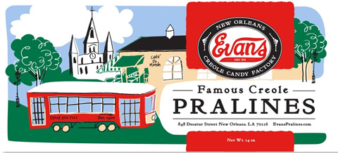 Evans Creole Pralines Box