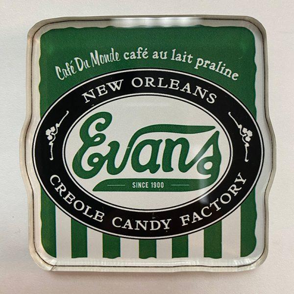 Evans Cafe au Lait Creole Praline Magnet