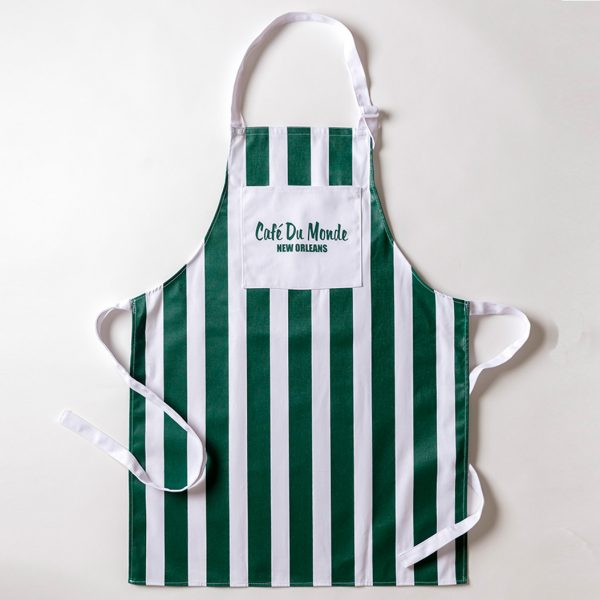 Cafe du Monde Green Stripe Apron