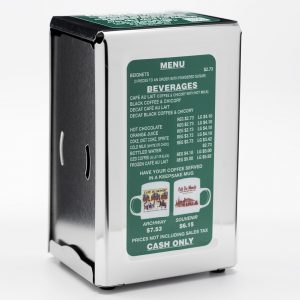 Cafe du Monde Stainless Steel Napkin Holder