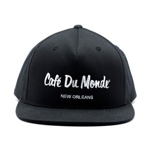 Cafe du Monde Black Flat Bill Cap