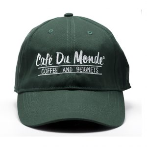 Cafe du Monde Forest Green Coffee and Beignets Baseball Cap