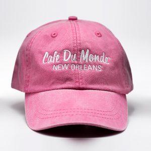 Cafe du Monde Hot Pink Washed Cap