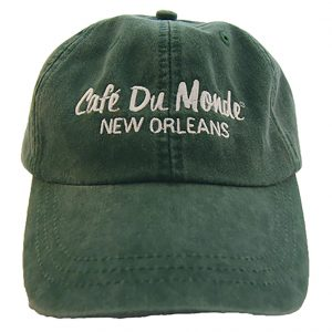 Cafe du Monde Forest Green Washed Cap