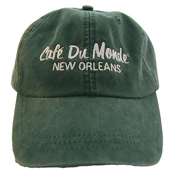 Cafe du Monde Forest Green Washed Cap