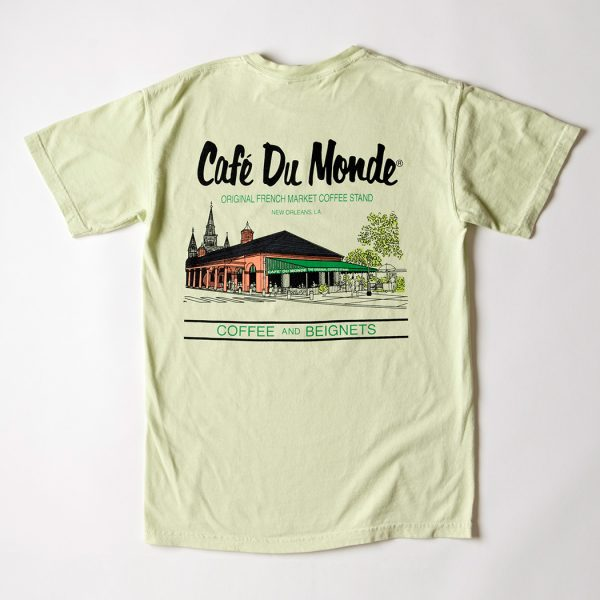 Cafe du Monde Comfort Colors Celadon Tee Shirt