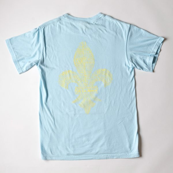 Cafe du Monde Comfort Colors Chambray Fleur de Lis Tee Shirt