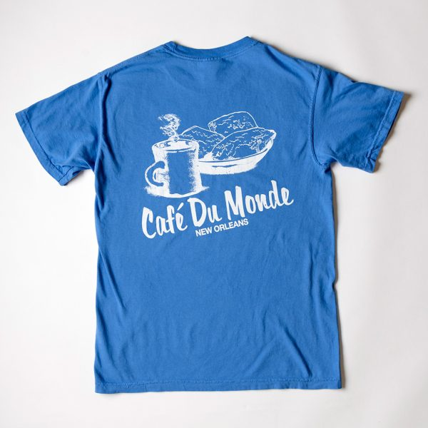 Cafe du Monde Comfort Colors Mystic Blue Tee Shirt