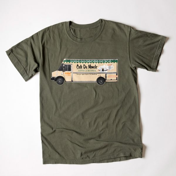 Cafe du Monde Comfort Colors Sage Tee Shirt