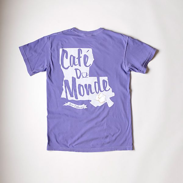 Cafe du Monde Comfort Colors Violet Louisiana State T Shirt