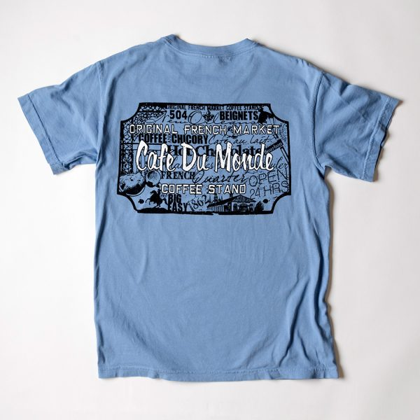 Cafe du Monde Comfort Colors Washed Demin Tee Shirt