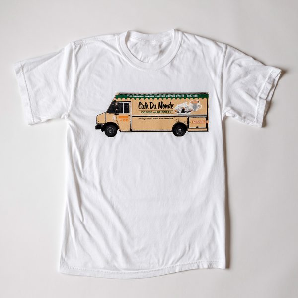 Cafe du Monde Comfort Colors White Food Truck Tee Shirt