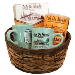 Cafe du Monde Green Cups Gift Basket
