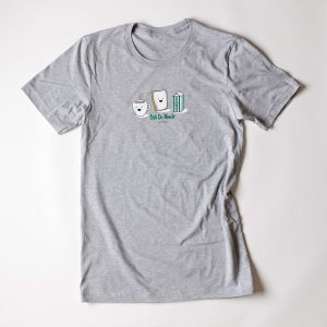 Cafe du Monde Gray Canvas Brand Tee Shirt