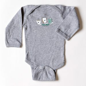 Cafe du Monde Gray Rabbit Skins Onesie