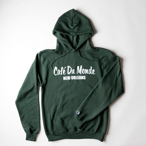 Cafe du Monde Green Champion Hoodie Sweatshirt