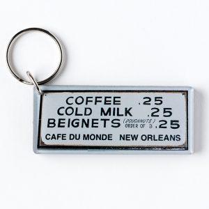 Cafe du Monde Menu Keychain