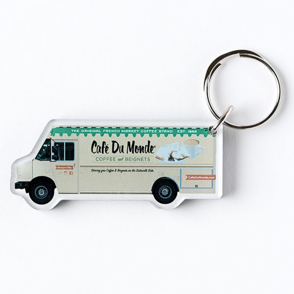 Cafe du Monde Food Truck Keychain