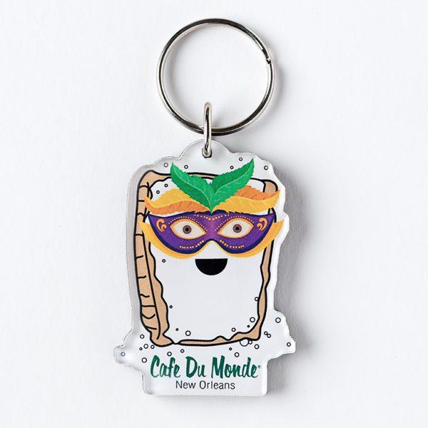 Cafe du Monde Mardi Gras Beignet Keychain