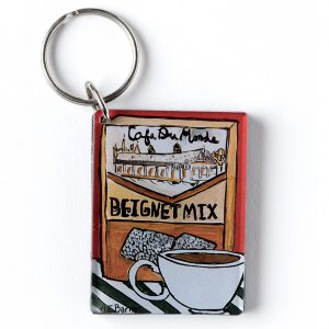 Cafe du Monde Beignet Mix and Cup Keychain