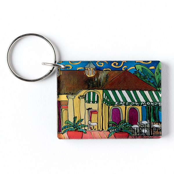 Cafe du Monde Patio Plants Keychain