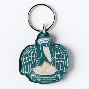 Cafe du Monde Pelican Keychain