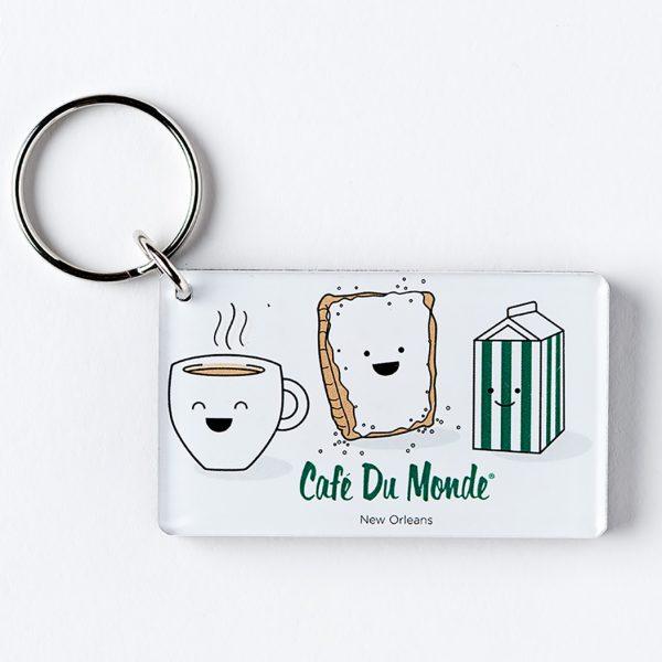 Cafe du Monde Smile Keychain
