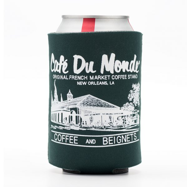 Cafe du Monde Forest Green Koozie