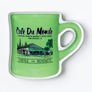 Cafe du Monde Avocado Diner Coffee Mug Magnet