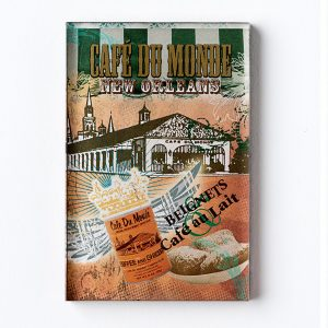 Cafe du Monde Crown Wings Magnet