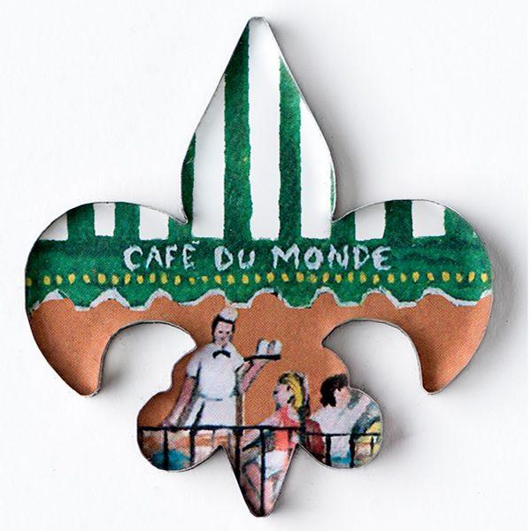Cafe du Monde Fleur de Lis Magnet