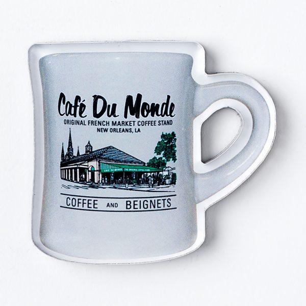 Cafe du Monde Gray Diner Coffee Mug Magnet