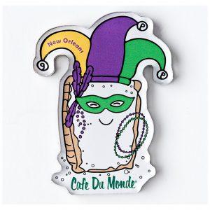 Cafe du Monde Mardi Gras Jester Magnet