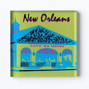 Cafe du Monde Lime Blue Magnet