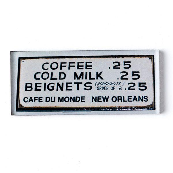 Cafe du Monde Menu Magnet