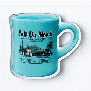 Cafe du Monde Mint Diner Coffee Mug Magnet