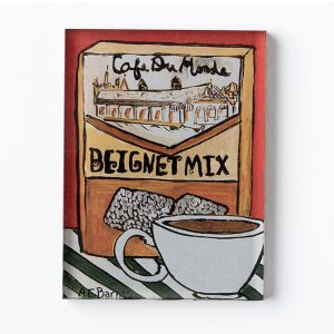 Cafe du Monde Beignet Mix and Coffee Cup Magnet