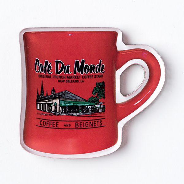 Cafe du Monde Red Diner Coffee Mug Magnet