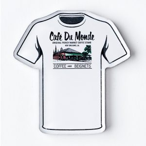 Cafe du Monde T Shirt Magnet