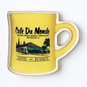 Cafe du Monde Yellow Diner Coffee Mug Magnet