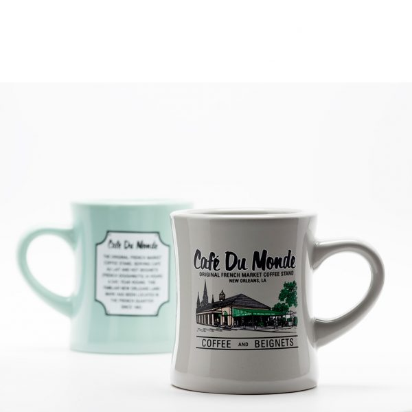 Cafe du Monde Gray Diner Coffee Mug