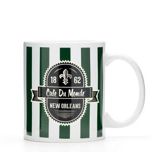 Cafe du Monde Green Stripe Coffee Mug