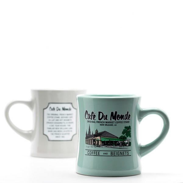 Cafe du Monde Mini Green Diner Coffee Mug